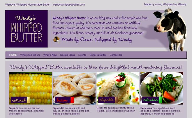 Web Development and Design for Wendys Whipped Butter